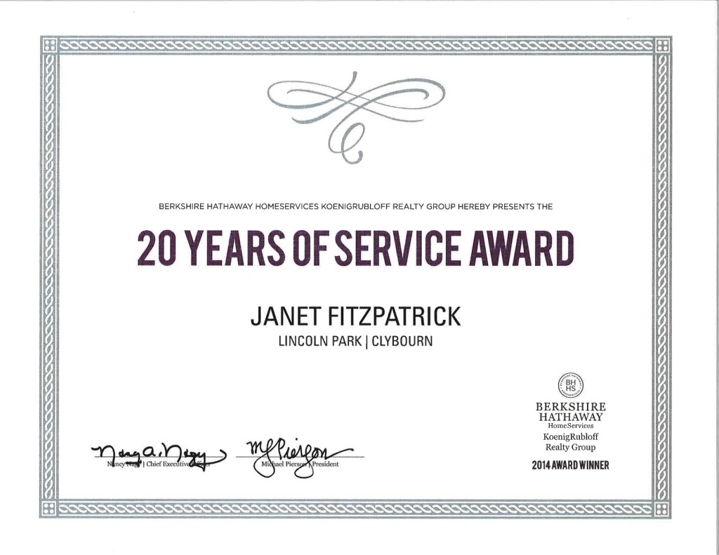 20 Years of Service Janet