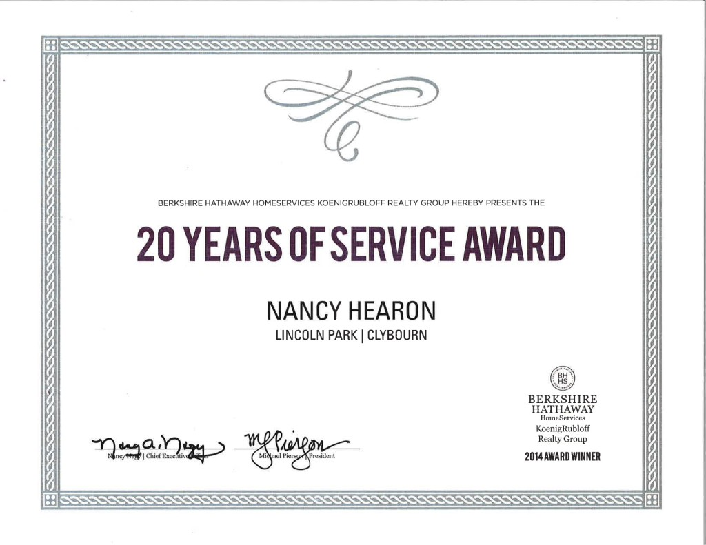 20 Years of Service Nancy