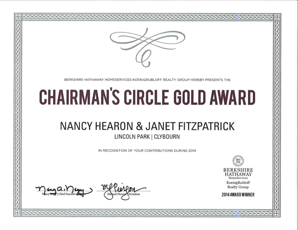Chairman's Circl Gold Award
